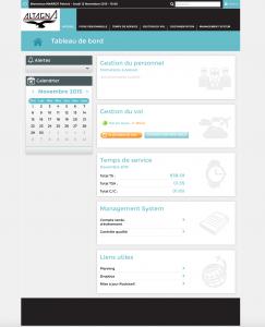 La page d'accueil du logiciel Gest'Air